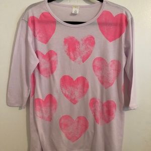 Crew Cuts by J Crew Wht Shirt with Pink Hearts 16